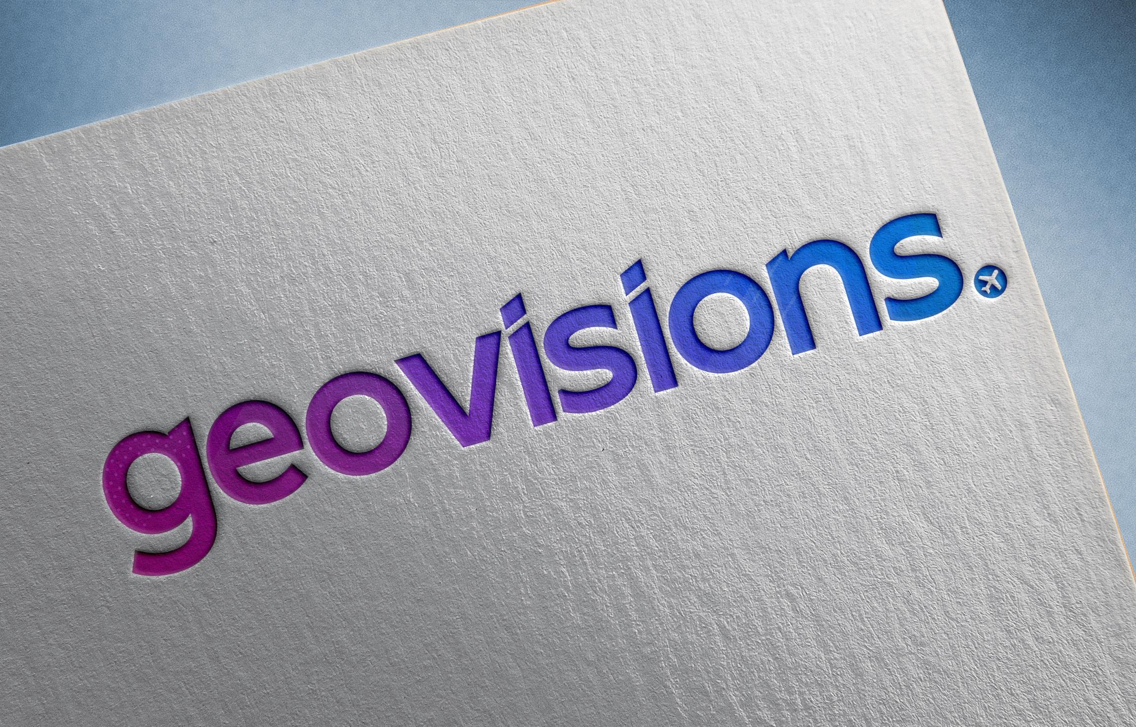 Carte de visite avec logo Geovisions 2020